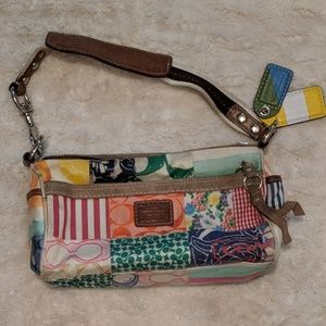 Authentic COACH Patch style purse colorful